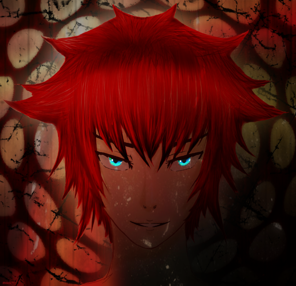 Red boy glowing in the dark by MelanySama