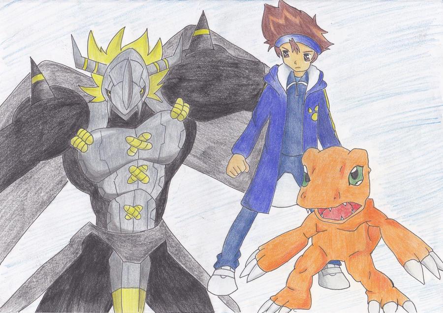Request: Tai and Agumon VS Blackwargreymon by YunaAngel90