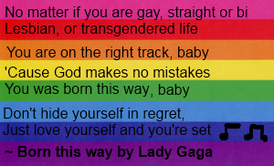 Born this way lyrics Pro-LBGT by fanpoop97