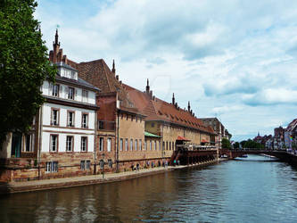 Strasbourg - At the river Ill by Paseas-Images