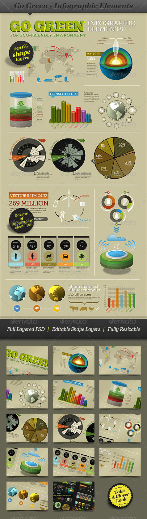 Go Green Infographic Elements by ranfirefly