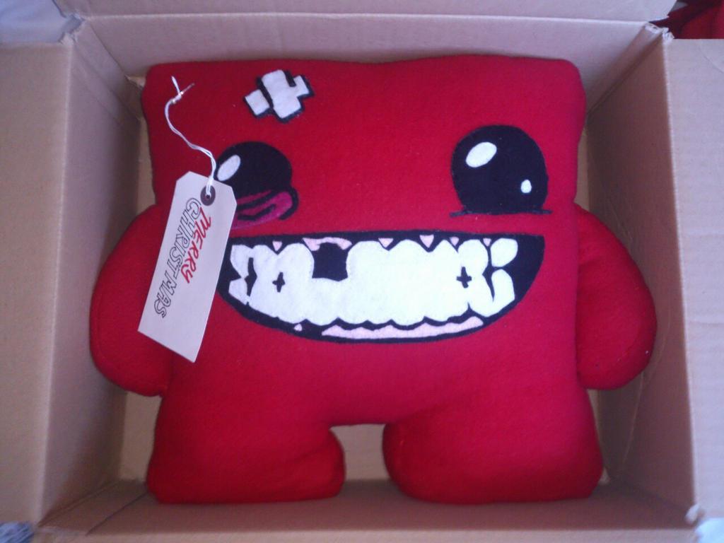 Brand new Giant Super Meat Boy Plush by arteclair on DeviantArt QN18