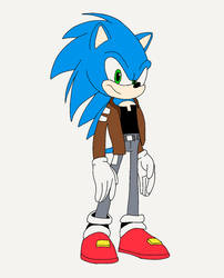 Sonic the Hedgehog as Terry McGinnis by CrawfordJenny