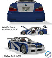 [MMD DL] BMW M3 GTR car DL by VladOkno