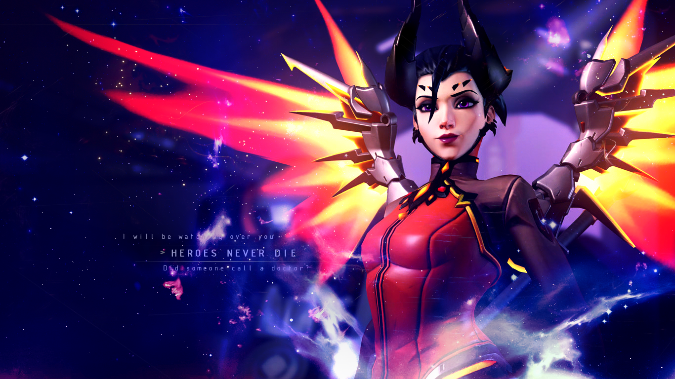 Mercy Wallpaper - Overwatch by Gramcyyy on DeviantArt