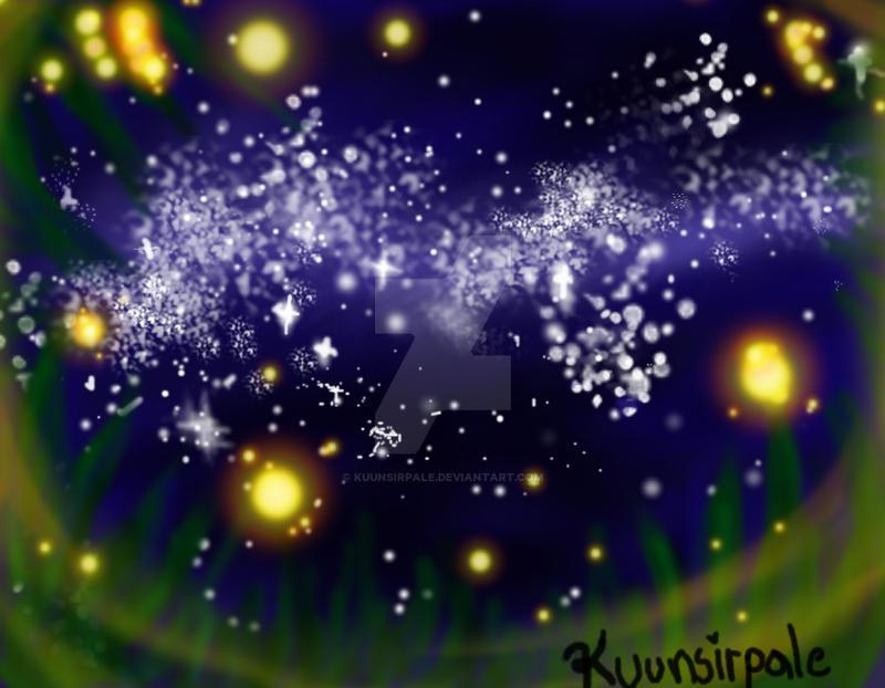 Stars and Fireflies by Kuunsirpale