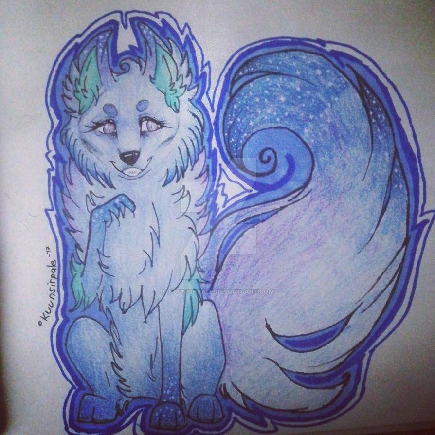 Blue wolf ~ by Kuunsirpale