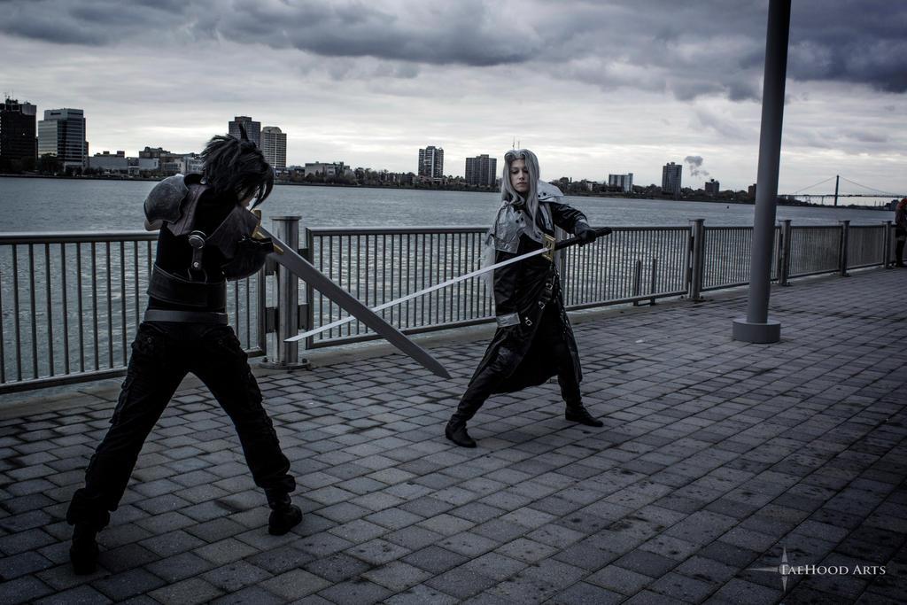 Sephiroth and Zack Youmacon 2015 Part 2 by sarita1893