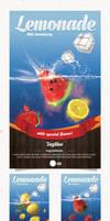 Lemonade Flyer with 3 Flavor
