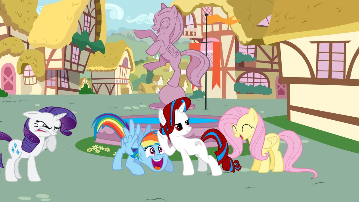Как в пони таун сделать пони на голове