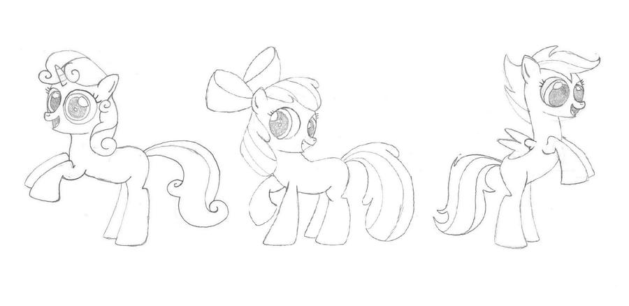 Coloring Pages My Little Pony Cutie