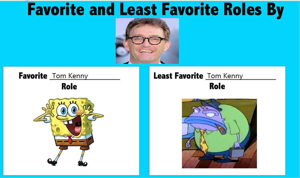 Favorite and Least Favorite Tom Kenny Roles by stephgomz04