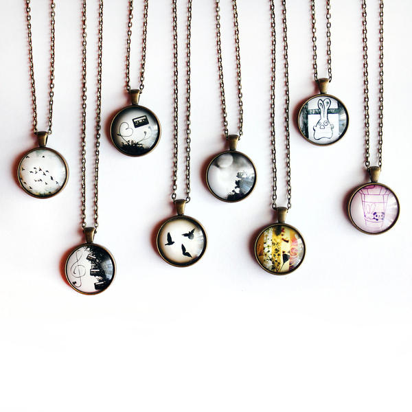 Glass Dome Necklaces by candymax