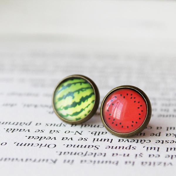 :Watermelon earrings: by candymax