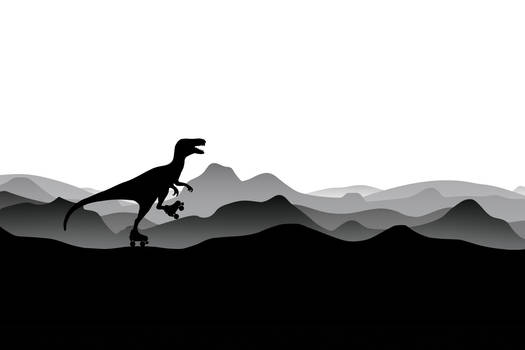 :DINO with roller skates - Dino Collection: