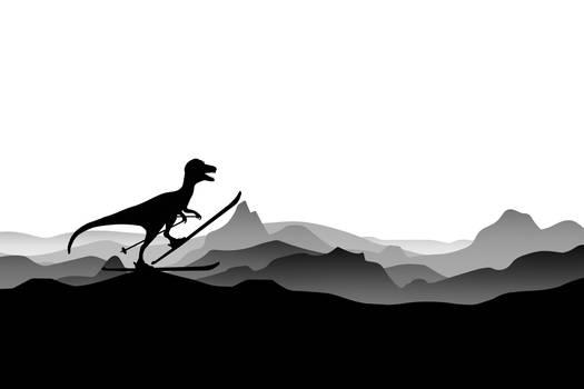 :DINO on ski - Skiing Dinosaur - Dino Collection: