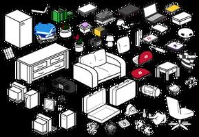 Furniture Compilation 1 by Blizzriel