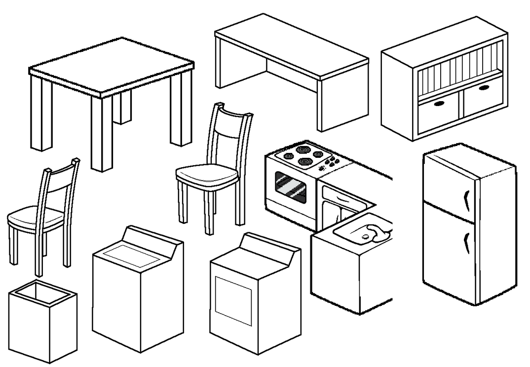 Furniture Compilation 3 By Blizzriel On Deviantart