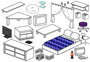 Furniture Compliation 4 by Blizzriel