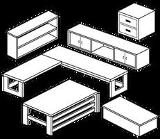 Furniture Compilation 6 by Blizzriel