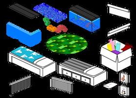 Furniture Compilation 7 by Blizzriel