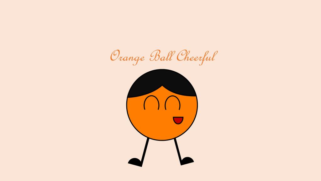 Orange Ball Cheerful by Stepan-Mine