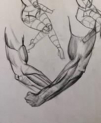 Forearm practice Mar 6, 2017