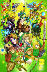 All LINK!! Legend of Zelda