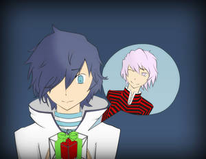 Hibiki and Alcor - Devil Survivor 2 - Merry Xmas!