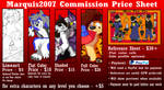 Updated Commission Price Sheet by Marquis2007