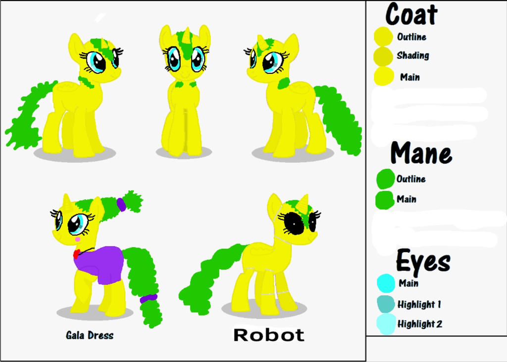 My OC reference sheet Part 1/2