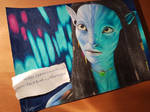 Avatar - Neytiri colored pencil