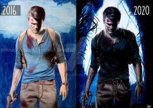 4 year challenge - Nathan Drake Uncharted