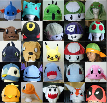 Lots of Character hats by Athena1chan