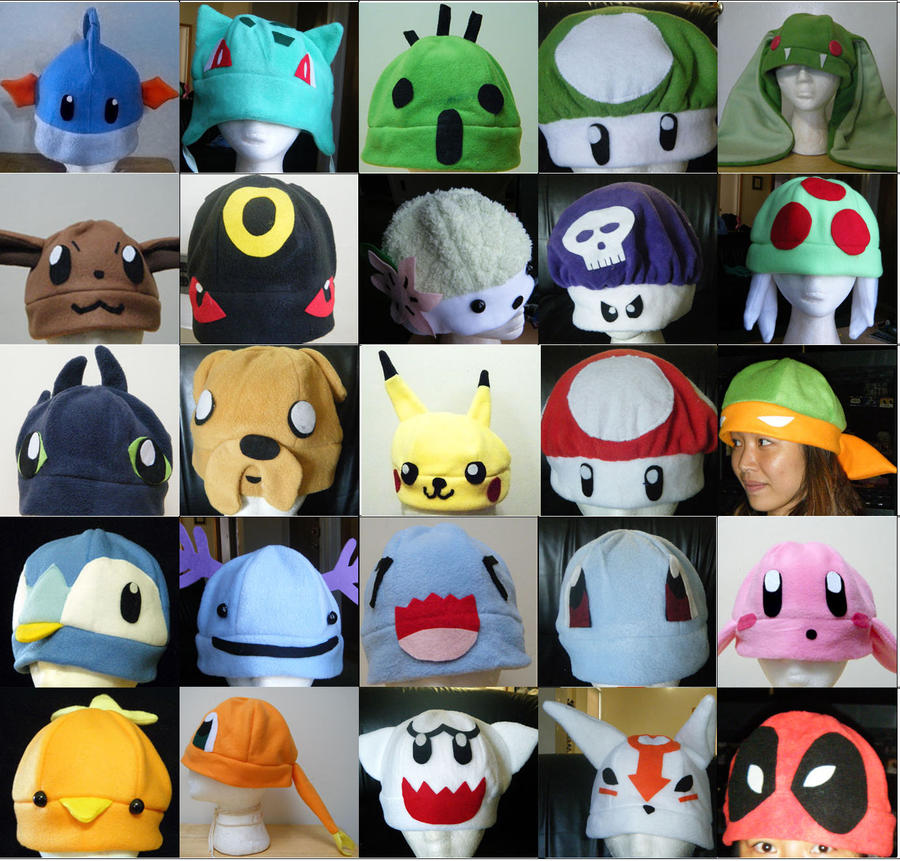 Lots of Character hats