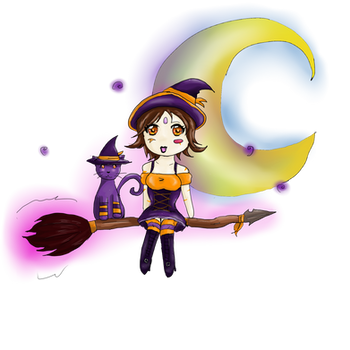 witch nidalee chibi by pixelated-nightmare