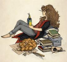 Hermione by aljanny