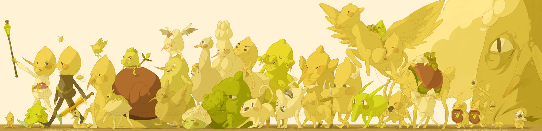 the big lemongrab family by teacosies