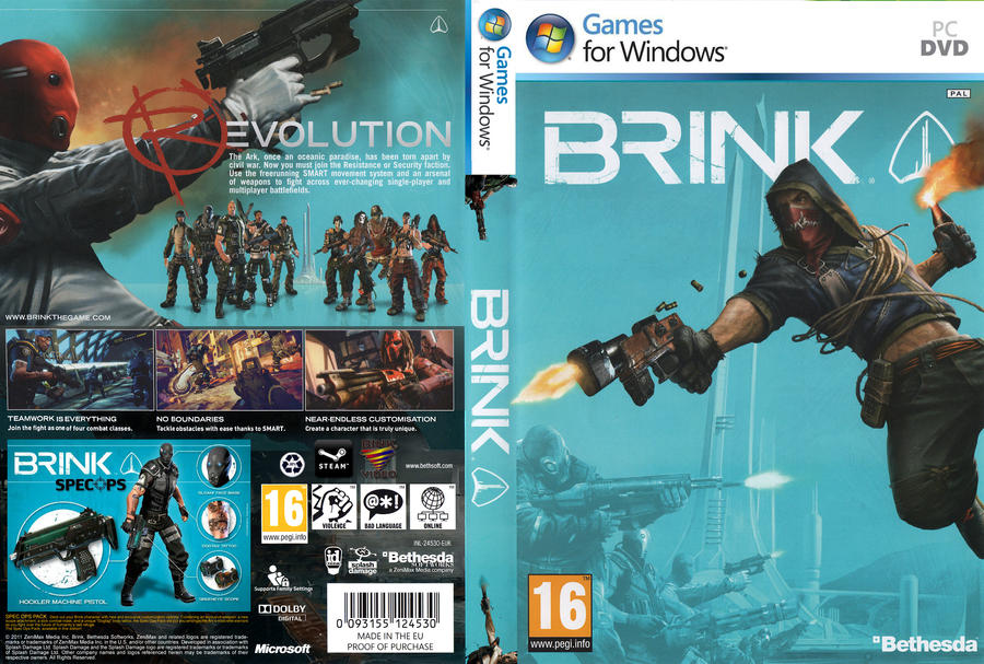 BRINK - PC DVD Cover by rapt0r86