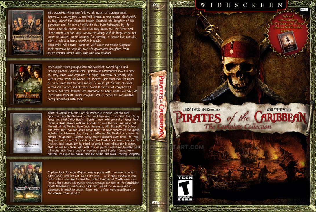 Pirates Of The Caribbean Collection Dvd Cover By Rapt0r86 On