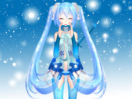 [MMD] Snowy Miku loves you~! by Ginger-Hill