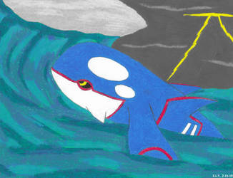 Storm Crash Kyogre by SummerShe-Wolf
