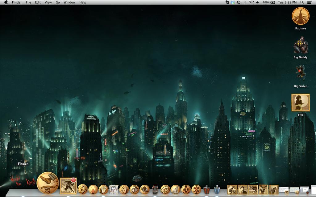 Bioshock Icons (Mac) by Fifth-C0lumnist