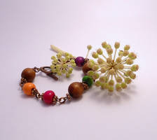 For Sale: Stained Wood Bracelet by Wirejeweller