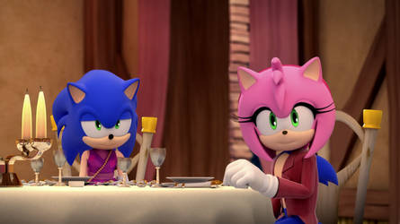 a romantic Head Swap with Sonic and Amy!