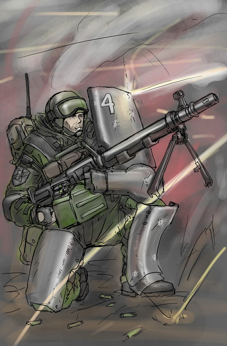 The assault machine gunner by TugoDoomER