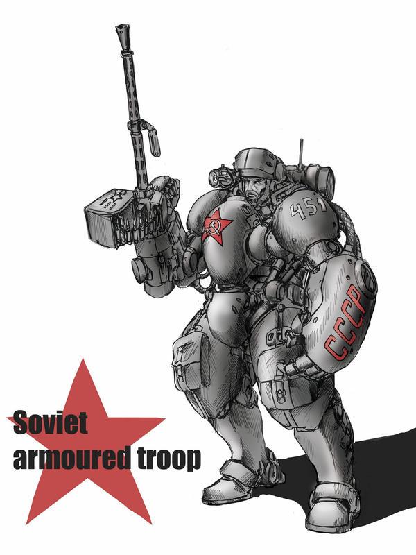 Soviet trooper by TugoDoomER