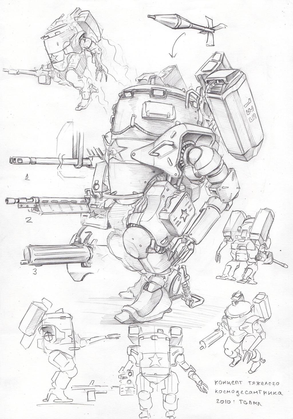 heavy soviet marine by TugoDoomER