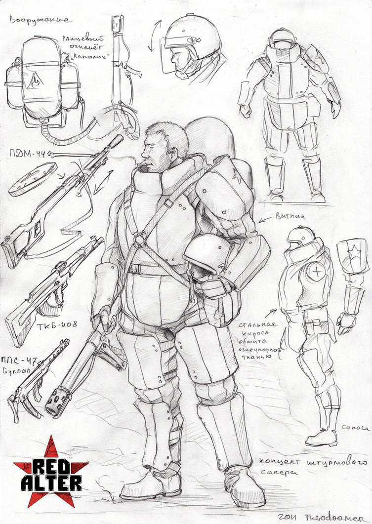soviet assault sapper by TugoDoomER