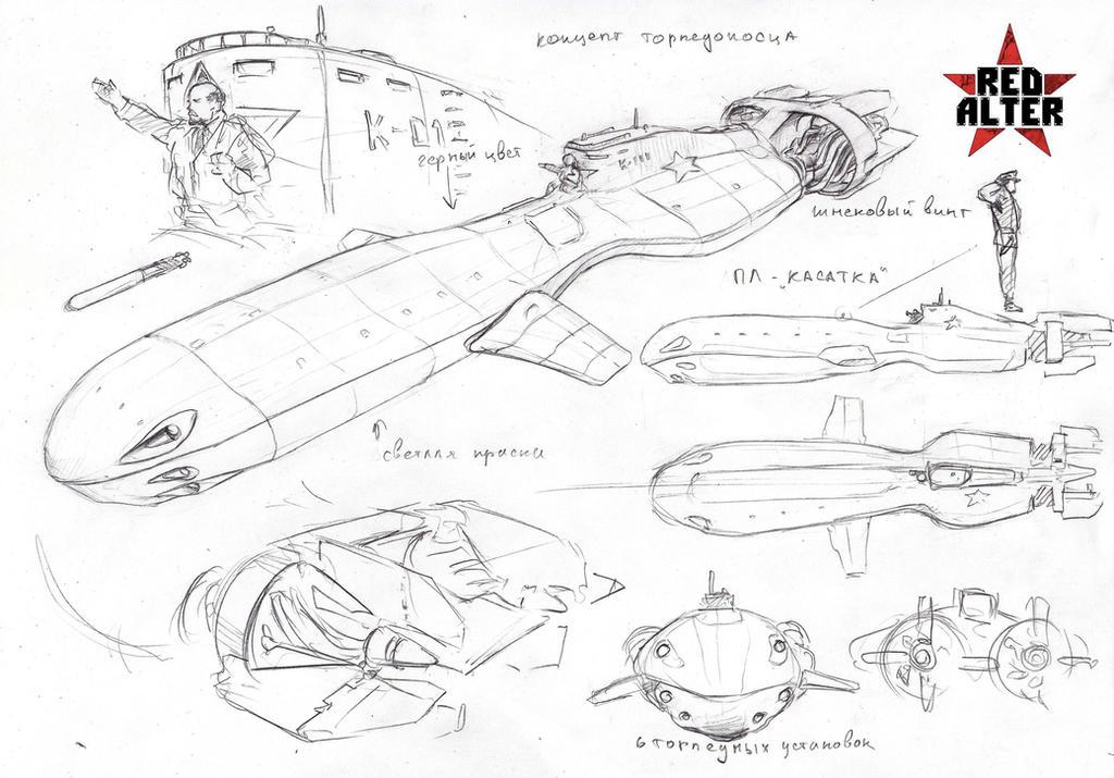 soviet torpedo submarine by TugoDoomER